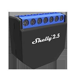 Shelly 2.5 Przekaźnik dopuszkowy WIFI 2 kanały